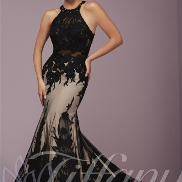 Tiffany Designs Dresses & Skirts - Tiffany designs black prom dress